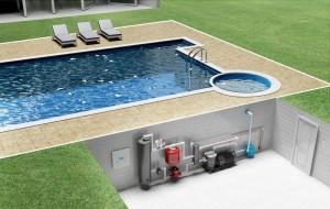 Как работает подогрев воды в бассейне тепловым насосом. Схема